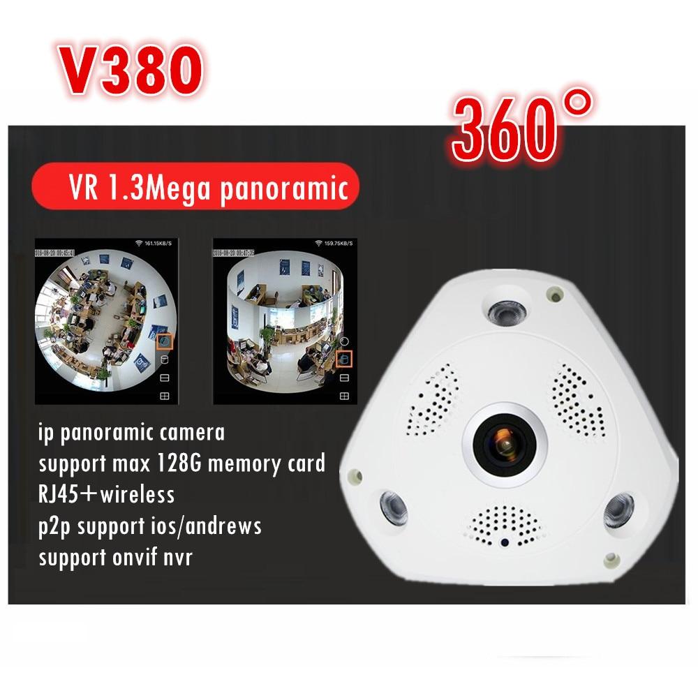 WIFI IP Camera 360 Fisheye Panoramic Dome Camera 1.3MP 960P ONVIF CCTV Night Vision Video Surveillance Security v380