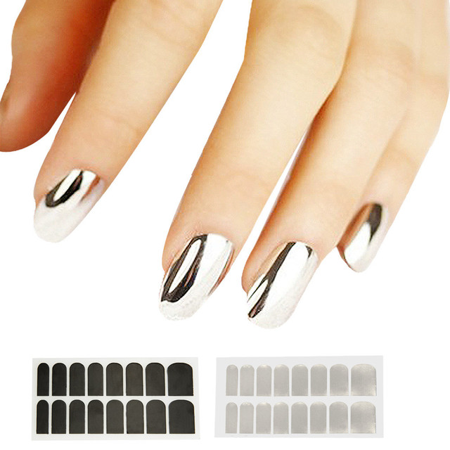 1 Sheet DIY Nail Stencils Stamp 3D Sticker Simple Charms Bronzing Art Decal