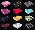 Da del punto de polca de seda satinada Pocket Square Hanky Jacquard tejida clásica del banquete de boda pañuelo