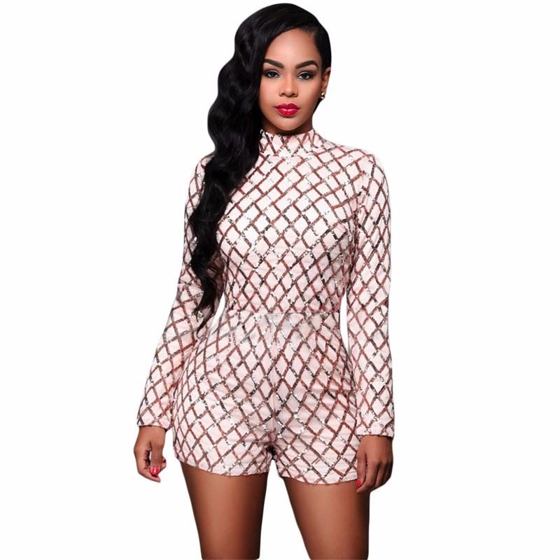 Pink-Diamond-Sequins-Long-Sleeves-Romper-LC64189-10-1