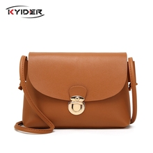 KYIDER 2019 NEW Vintage Leather Small Lock Handbags High Quality Women Purses Party Messenger Crossbody Bags Shoulder bag