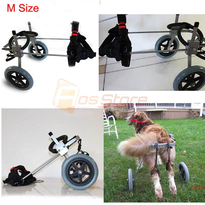 Disabled Cat Dog Rehabilitation Wheelchchair Dog Wheelchair Pet Cart For Handicapped Doggie Puppy Cart