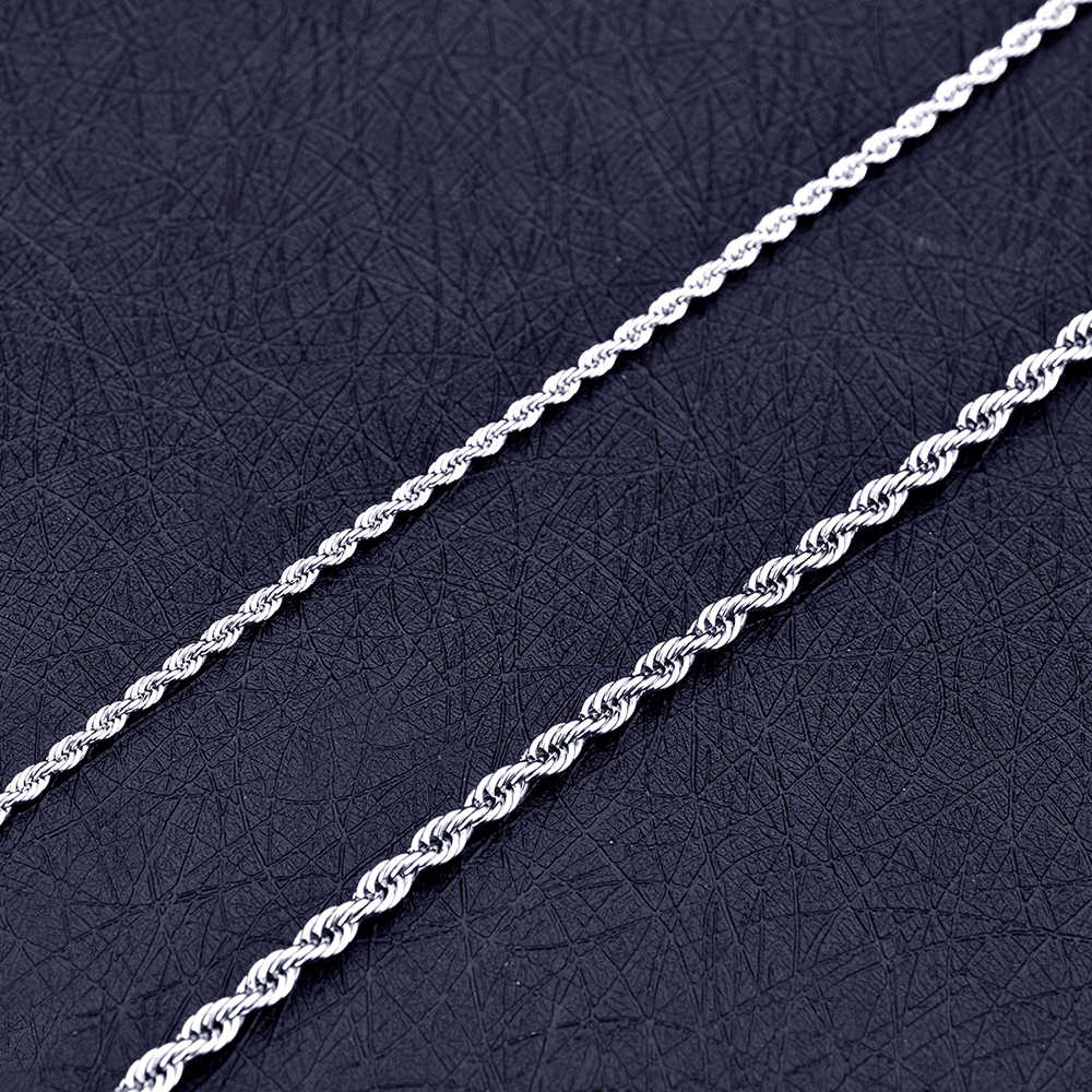 Hot Sale 4.8MM Stainless Steel Twisted Chain Necklace Fashion Rock Hip Hop Men's Jewelry Christmas Brothers Gift Length 50-70CM