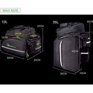 Image 2 - Сумка на заднее сиденье велосипеда ROCKBROS, рюкзак для багажника, велосипедная сумка для горного велосипеда, посылка на багажник, вместительные Аксессуары для велосипеда