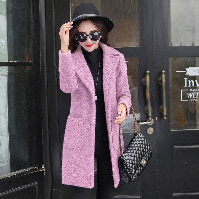 Automne Veste Nouvelle Outwear red Oka657 De pink purple Long Laine Femme Parka Gray Cachemire En Femmes Épaisse Manteau Chaud Hiver rYqw4YxARt