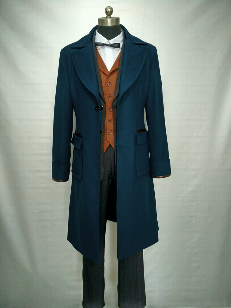 2017 Fantastic Beasts and Where to Find Them Newt Scamande Cosplay Costume Full Set Custom Made