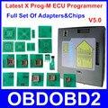 Conjunto completo De X-PROG XPROG M ECU Chip Ferramenta de Ajuste Com Todos Os adaptadores & Chips X Prog Com 3 Anos de Garantia V5.0 Autorização Total