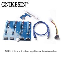 CNKESIN Mining Card Pci E Adapter 1 To 4 1X To 16X Riser Mount Card For