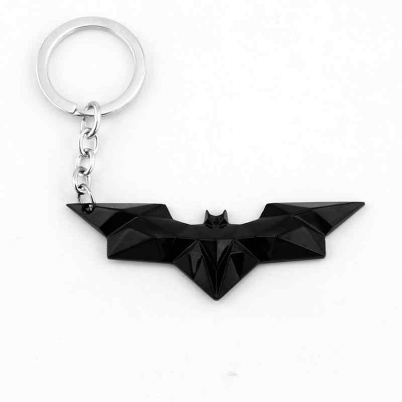 Drop Pengiriman DC Comics Film Superhero Keychain Perhiasan Hadiah Penggemar Film Batman Badge Pendant Keychain Cincin Portle Clef Souvenir