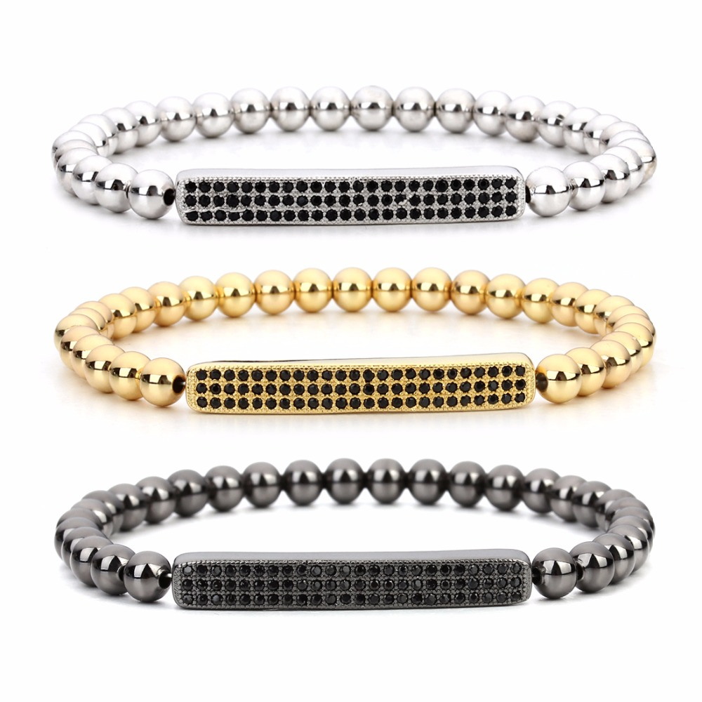 Louleur Jewelry Beads Bracelets For Women Men Stainless Steel Gold Silver Plated Rose Gold Trendy Wristband Female Bracelet