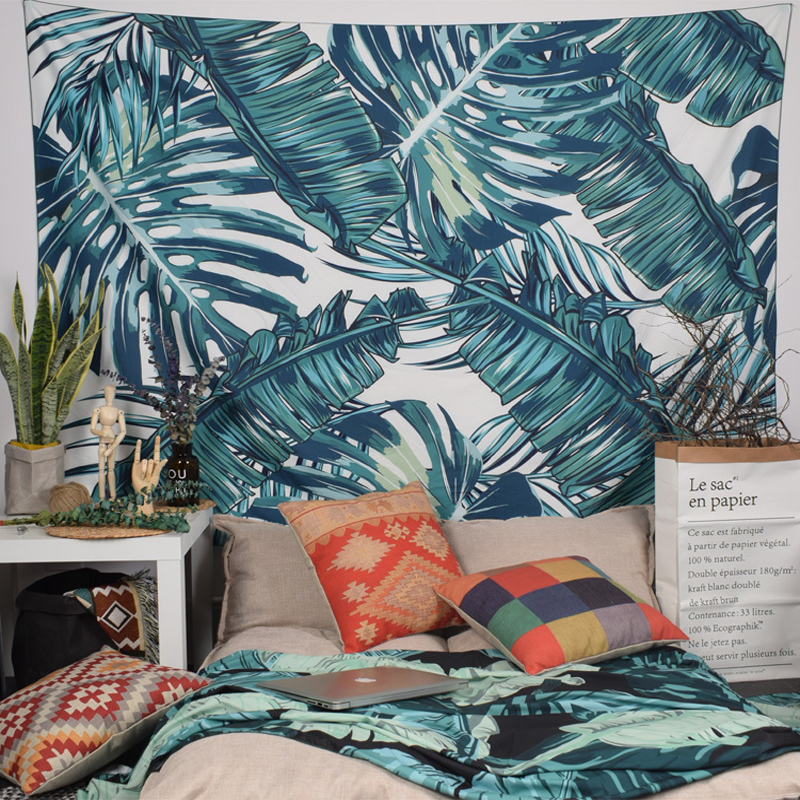Tropical Palm Tapestry Mandala Tapestry Hippie Chiffon Wall Hanging Tapestries Boho Bedspread Yoga Mat Blanket Bed Table Cloth