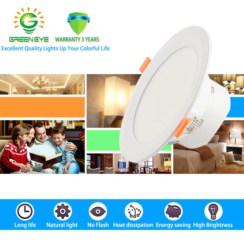 GreenEye Ultra Bright 12w 18w 6w / 7,5 inch LED LED Downlight 220v - Iluminatul interior - Fotografie 2