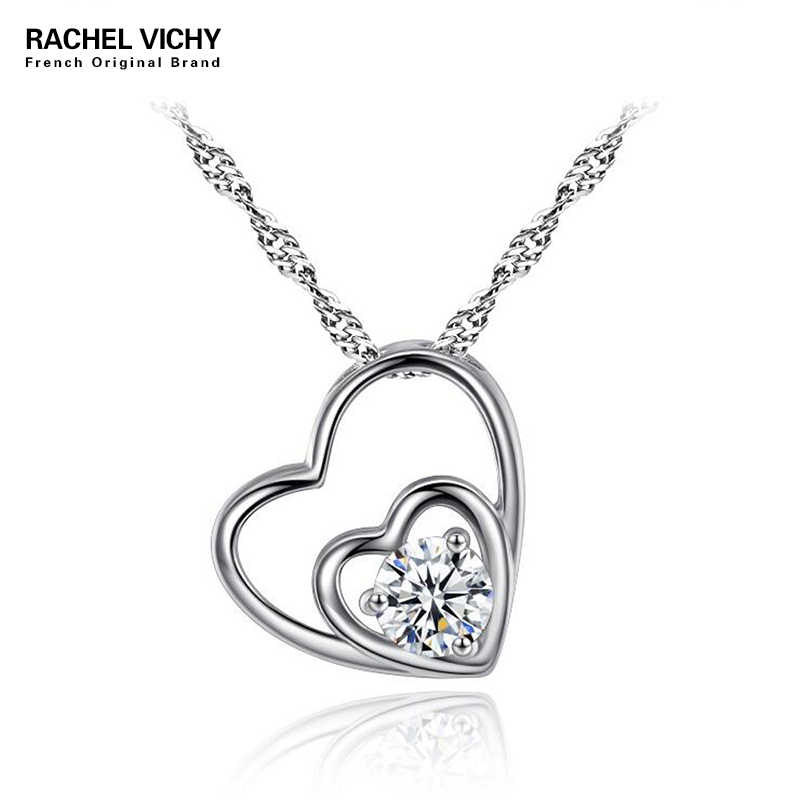 Detail Feedback Questions about Hot Silver Color Double Heart Necklaces  Pendants Elegant Crystals Zirconia Necklace for Women Jewelry Valentine   Gifts N1185 ... bf86dcd88130