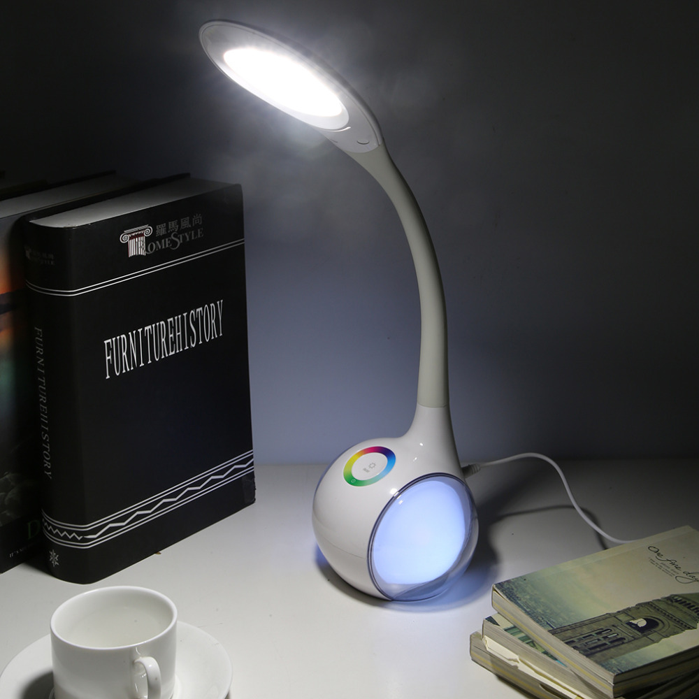 ФОТО FXT3 Led Reading Eye Protecting Student Desk Lamp Table Lamp For Computer Home Study Reading Brightness Day White