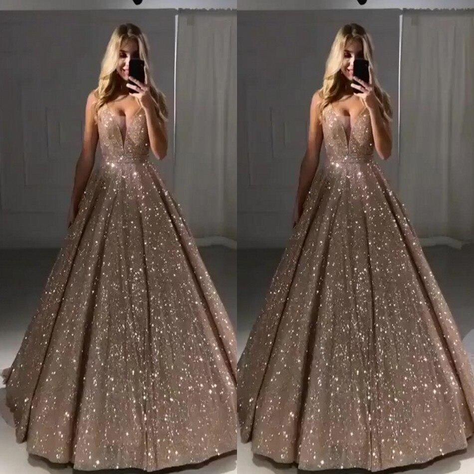 Stunning Arabic   Evening     Dresses   Long Sequined Formal   Dresses   robe de soiree Dubai Arabic   Dress   Party Floor Length   Evening   Gown