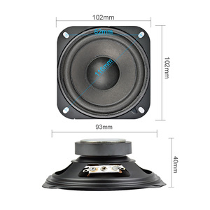 Image 2 - AIYIMA 2Pcs 4Inch 2Ohm 10W Portable Audio Speaker Subwoofer DIY Home Theater Sound System For Bluetooth Speaker Loudspeaker
