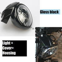 Motorcycle Black 5 3 4 Daymaker Headlight W Visor Bracket For Harley XL883 1200 Sportster