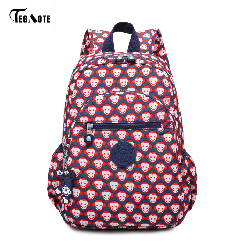 TEGAOTE Floral Mini Small Backpack for Teenage Girls Feminine Backpack Casual Kipled Nylon Backpacks Women Bagpack Sac A Dos bag