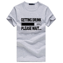 getting Drunk Beer Stag Party Gift Funny Mens T Shirt men's cotton print tops tee brand clothing drake for male summer hot sale