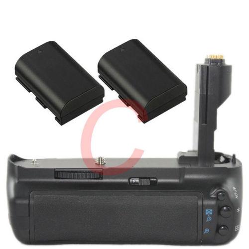Vertical Shutter Battery grip Holder +2pcs LP-E6 Batteries kit for Canon 7D DSLR Camera work as BG-E7 yixiang battery hand handle grip holder pack vertical power shutter for canon eos 7d mark ii 7dii 7d2 camera as bg e16 bge16