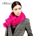 New Design Acrylic Fiber Yarn Fringe Solid Color Scarves Women Hoop Scarf Ladies Brand Neckerchief Fall Winter