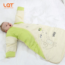ФОТО 100cotton Thicker kids sleeping bag children cotton animal pajamas baby animal clothing for home for Autumn and winter