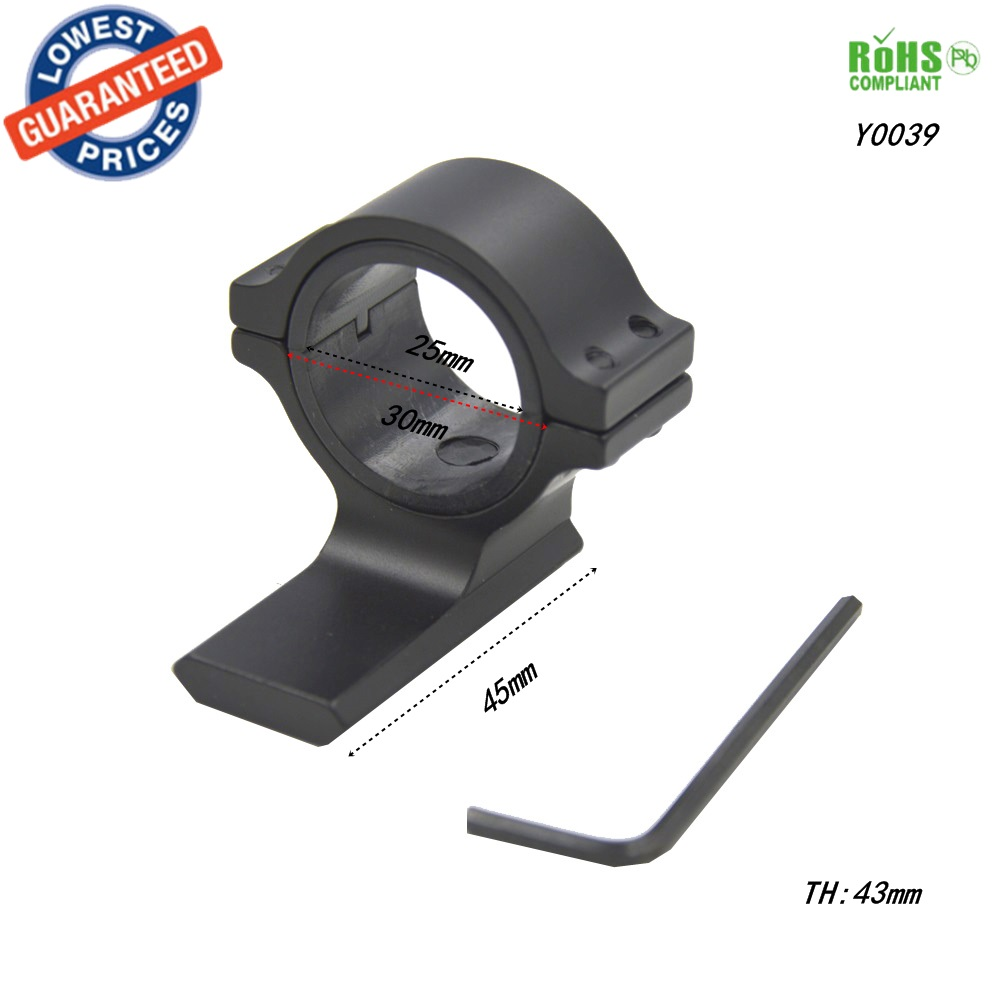 1 PC Y0039 30mm Anel Telescópica Sights Gun Mount 30mm RifleScope - Caça