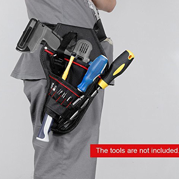 Drill Holster Waterproof Impact Driver Drill Holder Multi-functional Electric Tool Pouch Bag With Waist Belt For Wrench Hammer S Tool Parts