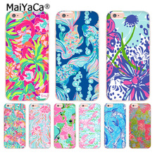 MaiYaCa Lilly Pulitzer Animal Fish Flamingo Transparent Cover Case for Apple iPhone 8 7 6 6S Plus X 5 5S SE 5C 4 4S Cover