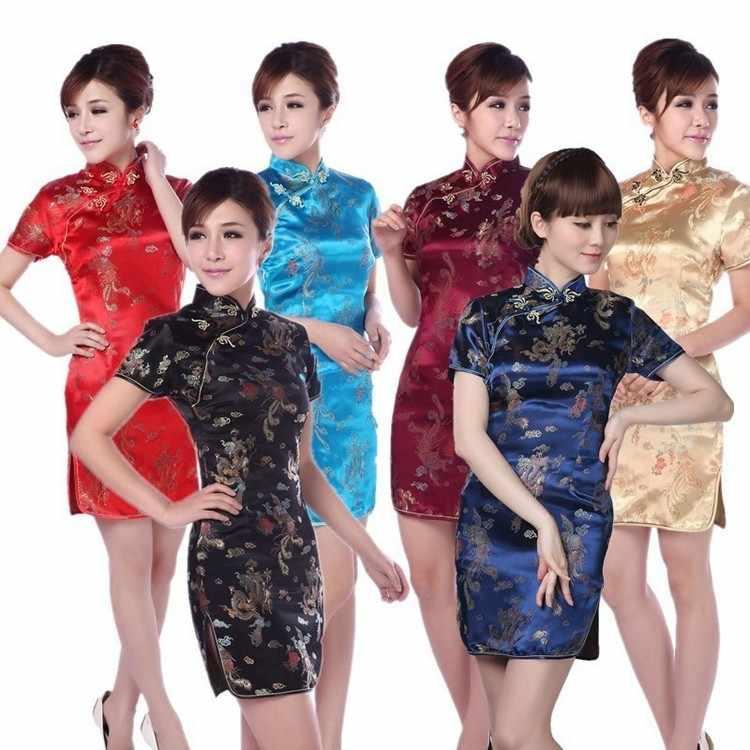 Vestidos chinos rojos sexis de estilo chino, rojos, qipao oriental, vestidos de satén de estilo chino, cheongsam moderno de seda oriental
