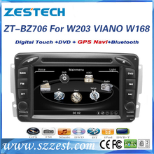 ZESTECH Touch Screen Car dvd gps player for benz W203 VIANO W168 Car dvd gps player with GPS,3G,Phonebook,mp4,mp5,DVR,SWC