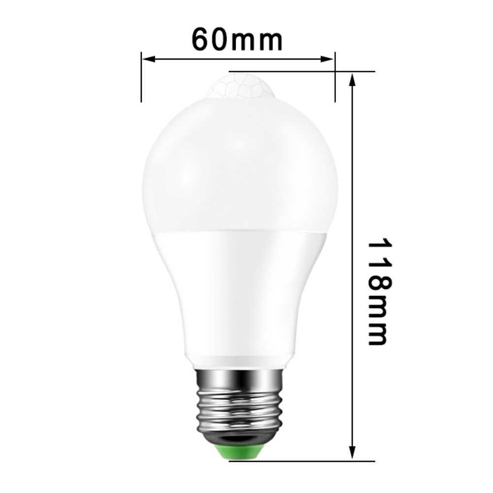 10 Вт Индукционная лампа Светодиодная смарт-лампочка звук/PIR датчик движения свет зондирования Крытый открытый лестница, коридор ночник