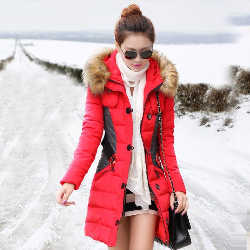 Casaco white Manteaux Hiver Bn004 Parka Feminino D'hiver Femmes Pc red yellow Coton Rembourré 1 Manteau Veste Long Black Femme Vestes UOCxnq