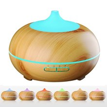 300ml Aroma Atomizer Oil Diffuser Wood Grain Ultrasonic Cool Mist Desktop Air Humidifier for Office Home Bedroom Living Room Spa