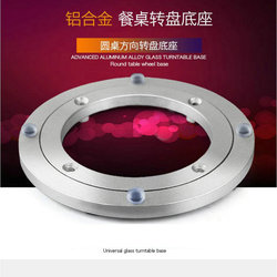 HQ SS01 ADVANCED Muted and Anti Skid Soft Rubber Tips Aluminium Alloy Lazy Susan Turntable Dining Table Swivel for Kitchen