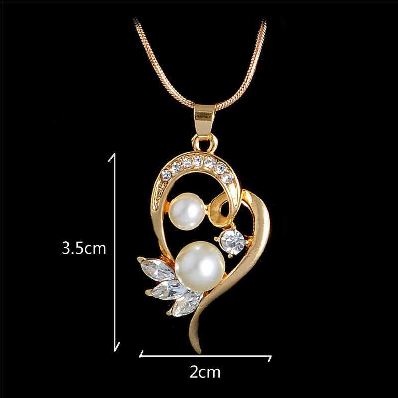 New Fashion Jewelry Set Necklace Statement Stud Earrings Women imitation pearl Jewelry Set For Women Wedding Jewelry