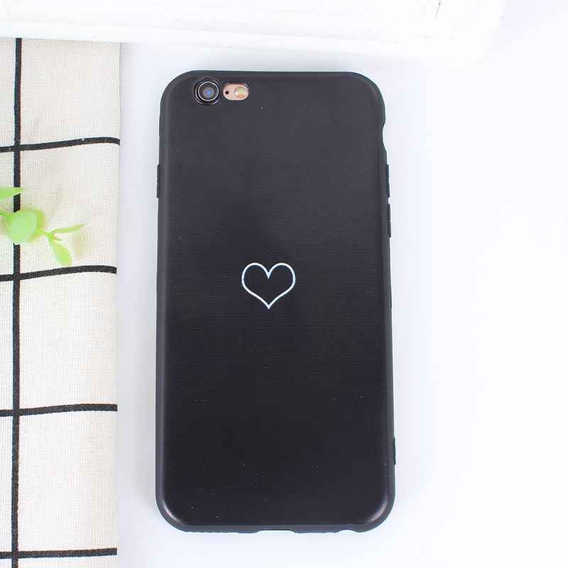 best cheap 40a7b b7096 Abstract Line Face For Cover iphone 6s 7 8 plus Art Planet Black Lover  Heart Couple Silicone Soft Cover Capa For iphone se 5 5s