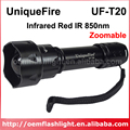 UniqueFire UF-T20 Infrared Red IR 850nm Zoomable 1-Mode IR Flashlight (1 x 18650)
