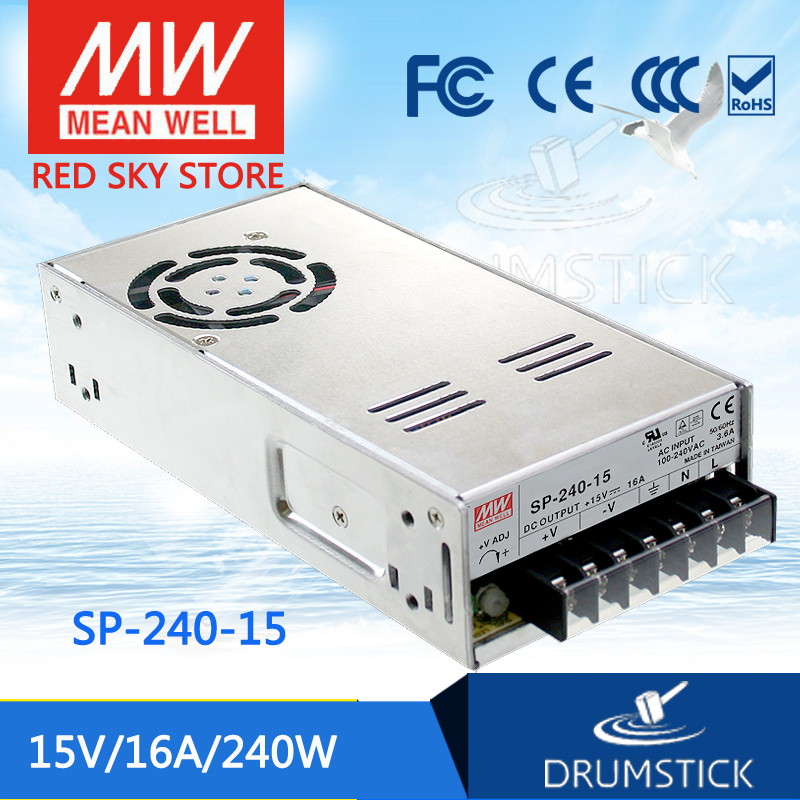 Selling Hot MEAN WELL SP-240-15 15V 16A meanwell SP-240 15V 240W Single Output with PFC Function Power Supply best selling mean well se 200 15 15v 14a meanwell se 200 15v 210w single output switching power supply