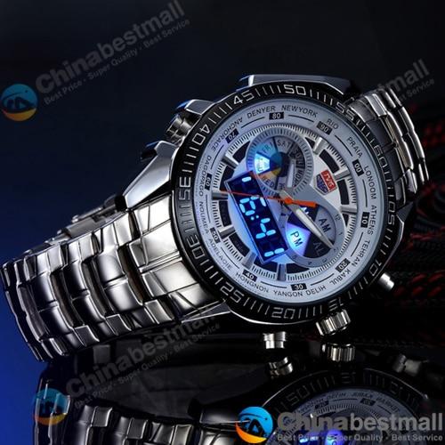 TVG Merk Luxe Rvs Klok Digitale Sport LED Horloges Mannen 30 M Dual - Herenhorloges - Foto 2