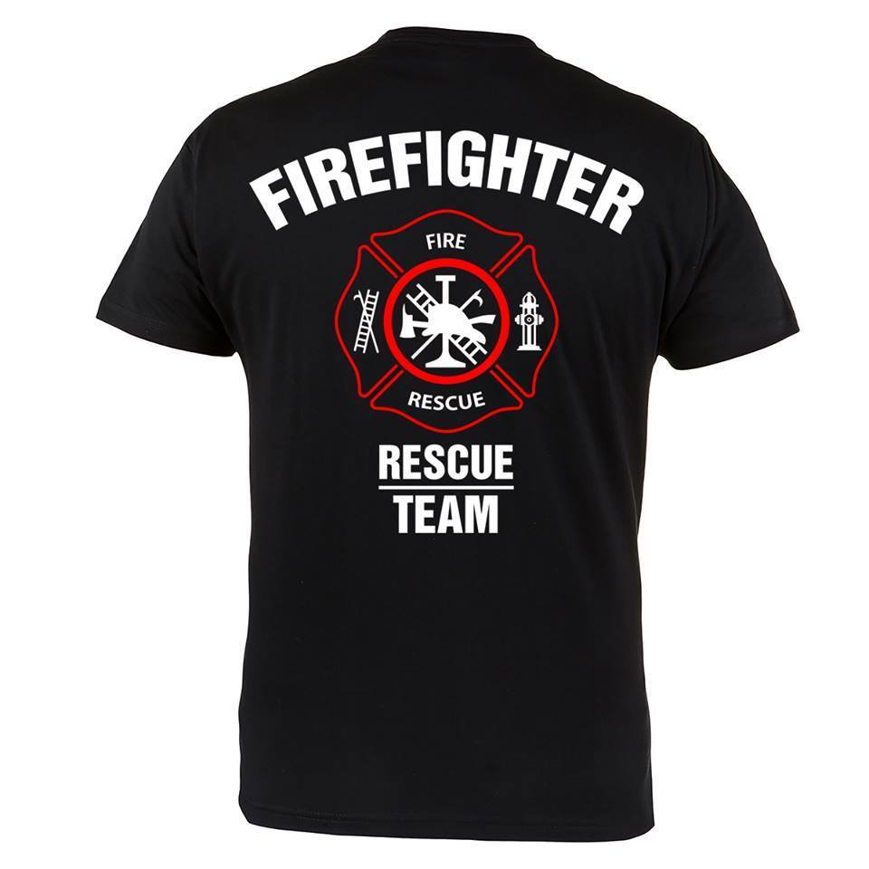 2018 Summer new Men Tees brand clothing T-shirt FIREFIGHTER RESCUE TEAM IDEAL FOR FIREFIGHTERS CASUAL T shirt