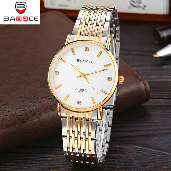 BADACE Brand Men Women Quartz Watch Montre Full Steel Waterproof Gold Watches Couple Lover Watches Relogios reloj mujer xiniu fashion men women watches luxury brand full stainless steel quartz wrist watch couple lover watches relogios clock 2018