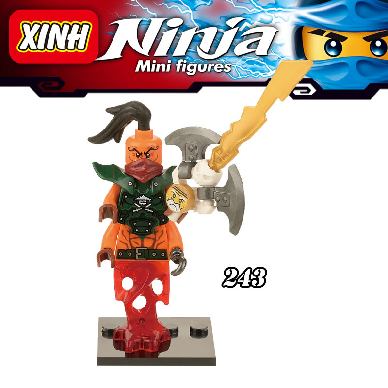 New 1PC Nada Khan Sensei Wu Ninja Zan diy figures Super Heroes Avengers Building Blocks Bricks Kids Children Toys For Xmas nada barbara
