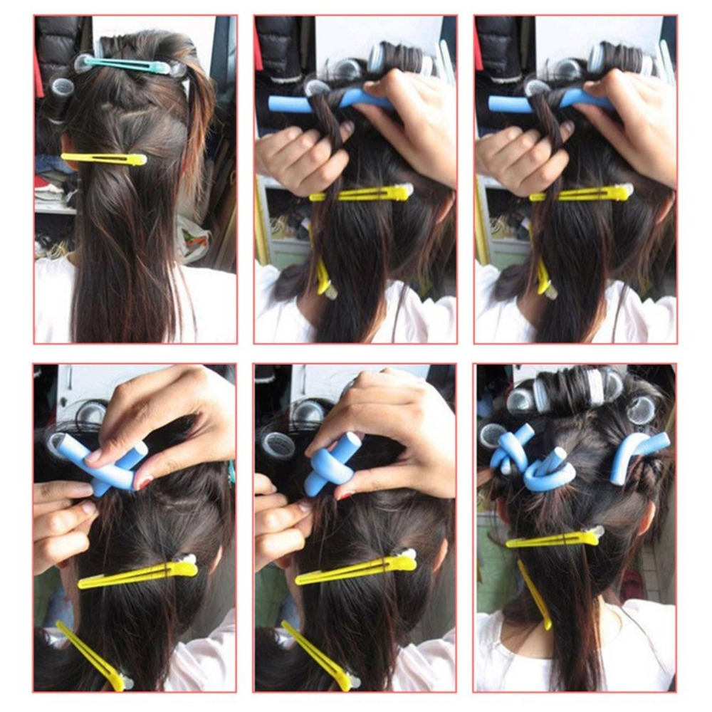 10pcs Lot Curler Makers Soft Foam Bendy Curls DIY Styling Hair Rollers Tool for Women Accessories 2 1 4 1 2cm Hair Curler in Hair Rollers from Beauty Health
