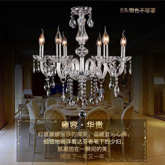 Livraison gratuite 8 bras italien verre lustre avec k9 cristal et trois ans de garantie