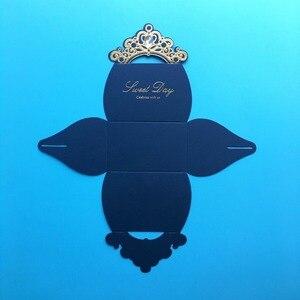 Image 5 - 레드 웨딩 부탁 상자 100 pcs 웨딩 사탕 상자 라인 석 종이 선물 상자 크리스마스 초콜릿 상자 베이비 샤워 생일 파티