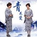 Одежда для азиатских и тихоокеанских островов  винтажный традиционный японский юката  новый дизайн  синие и белые фарфоровые японские кимо...