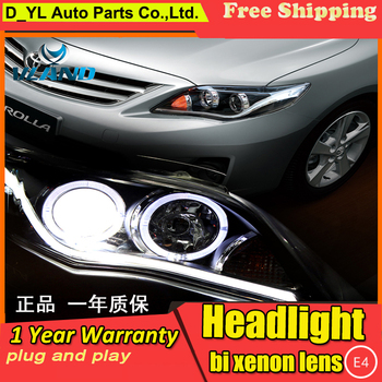 D-YL Car Styling for Toyota Corolla Headlights 2011-2013 Corolla LED Headlight DRL Bi Xenon Lens High Low Beam Parking Fog Lamp