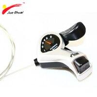 Js 6 스피드 마운틴 바이크 블랙 트리거 시프터 시프트 레버 22.2mm 직경 파라 전기 자전거 사이클링 액세서리 스피드 기어