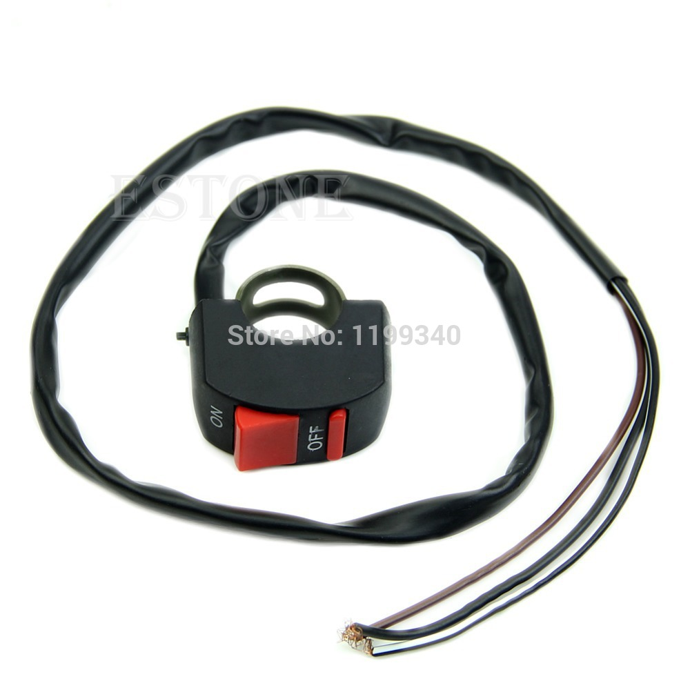 2015 Hot-selling NEW Universal Motorcycle Handlebar ON-OFF Skill Switch Button Bullet Connector 10166